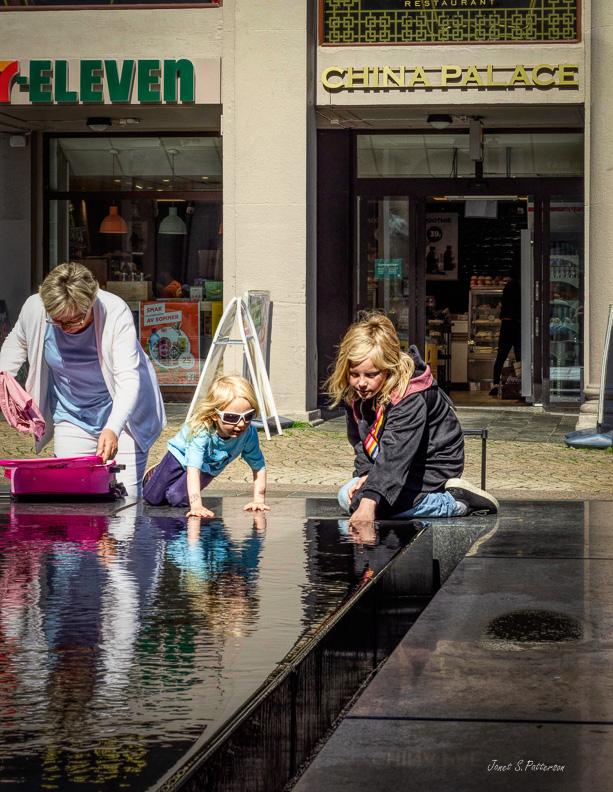 people, streetscape, children, woman, Bergen, Norway