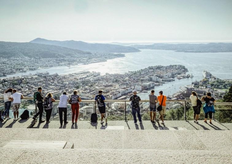 people, Bergen, harbour, seascape, Norway, 2019