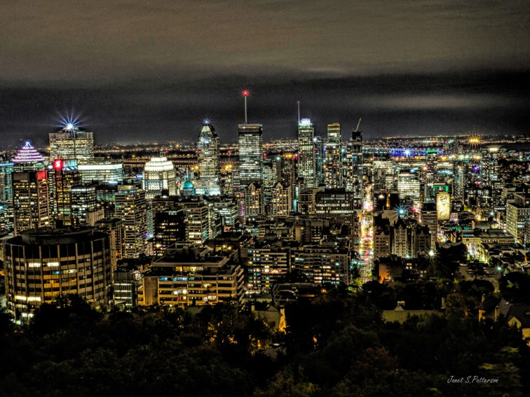 cityscape,  Montreal, night, Leonard Cohen, night