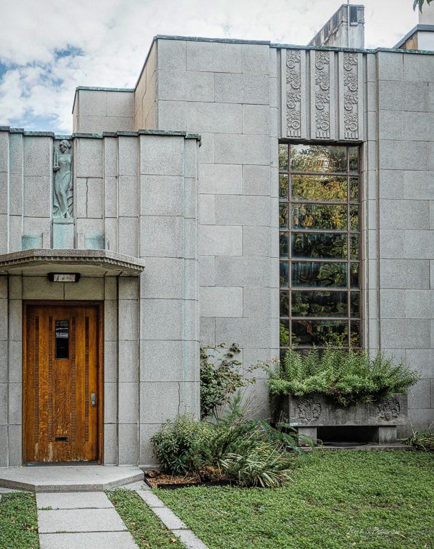 architecture, art deco, house, door, window, Montreal, Trudeau
