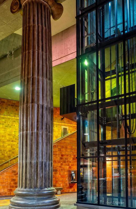 architecture, ionic column, College street, Metro station, Montreal