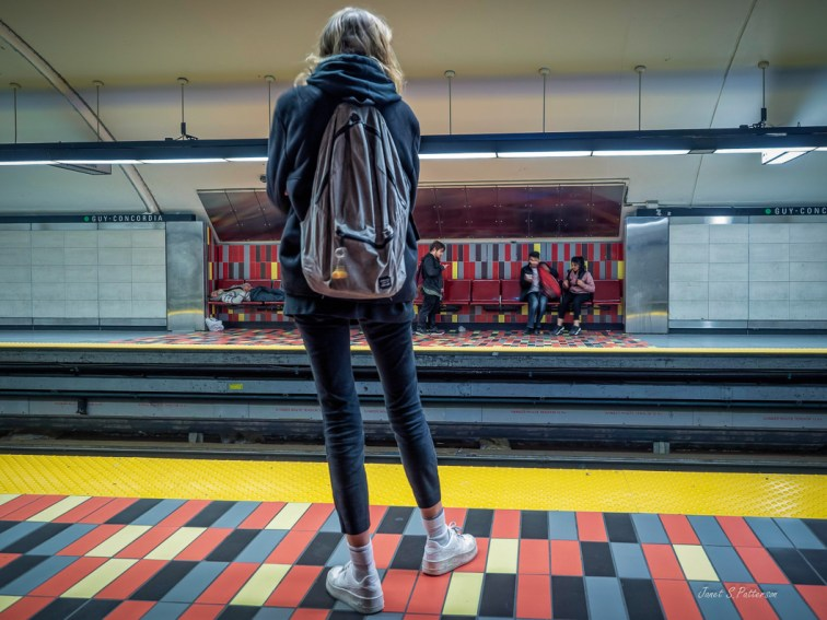 people, Montreal, Metro Station, woman, young