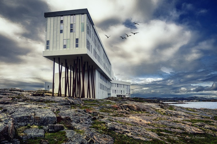 architecture, landscape, seascape, building, inn, Fogo Island, Joe Batt's Arm, NL