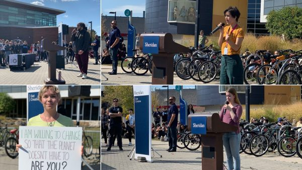 Student Speakers at Trafalgar Climate Rally