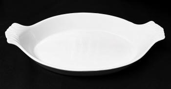 "Large Oval Eared Dish 14"" x 9.5"""