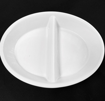 """Divided Oval Dish 10.5"""" x 8.5"""""""