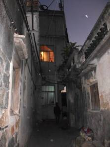 One of the alley ways to reach the old house.