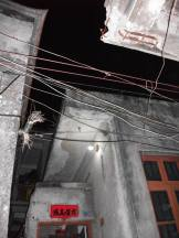 The simple electricity system in the village.