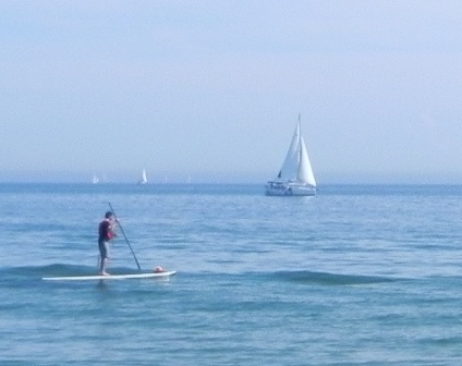 Plenty of activity on the water -- the paddleboarder they watched may have looked like this.
