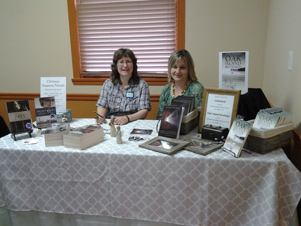 Sharing a table with another local author, Cynthia d'Entremont