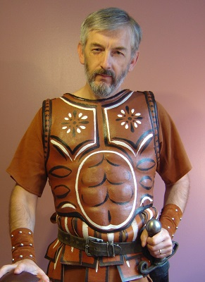 Author David Kitz, in centurion uniform