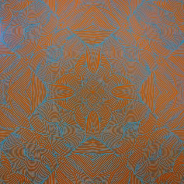 Inked Plate Mirrored Swirls