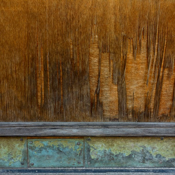 Wooden Panel; Carnegie PA by Janet Towbin