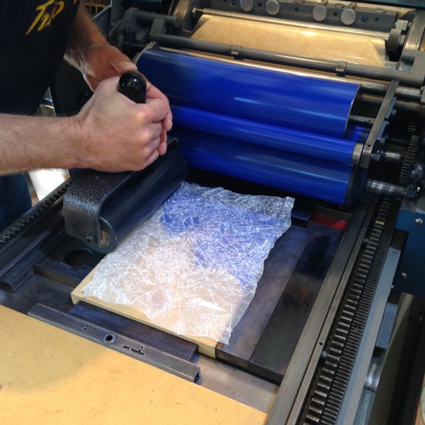 rolling wax paper offset
