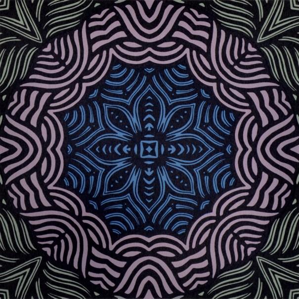 Print by Janet Towbin, Circle Swirl IV,