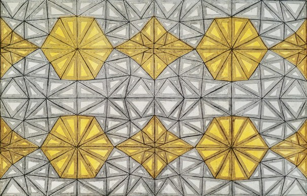 Kaleidoscope Aquatint Yellow-900