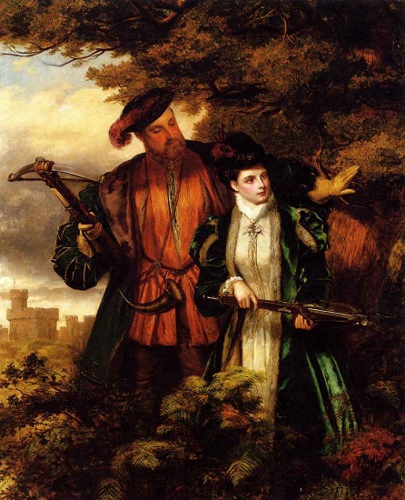 Anne and Henry Deer Shooting (Painted by William Powell Frith in 1903)