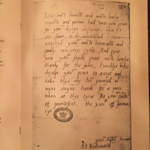 FitzRoy Letter 1527