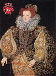 Lettice Knollys, Countess of Leicester, by George Gower (courtesy Wikimedia Commons)