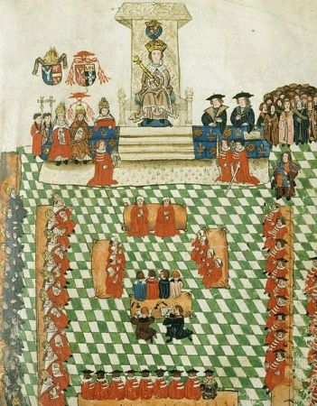 Henry VIII in Parliament, from the Wriothesley Garter Book