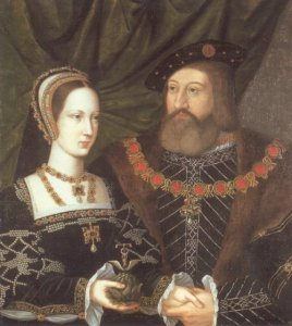 Mary Tudor and Charles Brandon, attributed to Jan Gossaert (public domain via Wikimedia Commons)