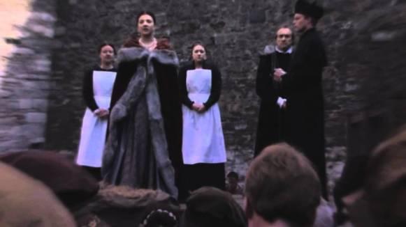 Anne Boleyn on the scaffold, from Showtimes' The Tudors