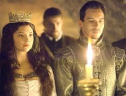 The Tudors' take on the secret wedding between Henry (Jonathan Rhys-Meyer) and Anne (Natalie Dormer)