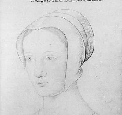 Sketch of Mary Tudor during her brief time as Queen of Francebrief