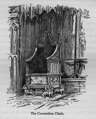 The Coronation Chair - Illustration from Walks in London by Augustus Hare (1878)