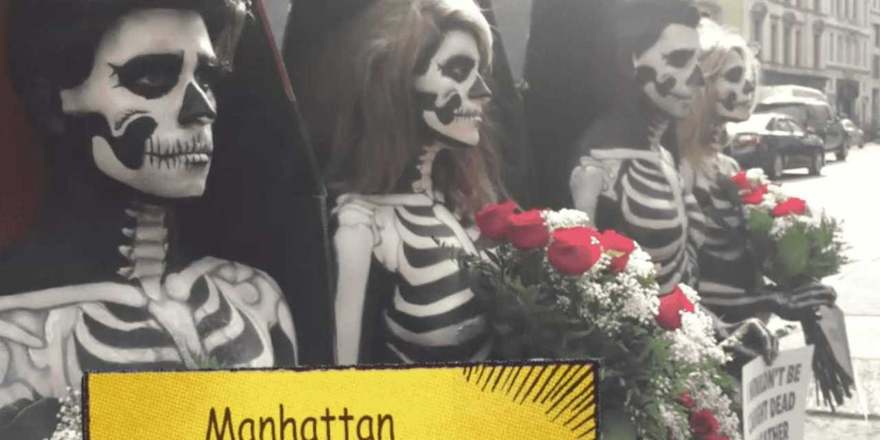 Animal Lovers Get Naked On Manhattan Street to Expose Ghoulish Rituals!