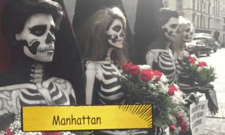 Animal Lovers Get Naked On Manhattan Street to Expose Ghoulish Rituals!