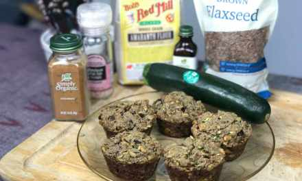 Zippy Zucchini Muffins with Chocolate Surprise