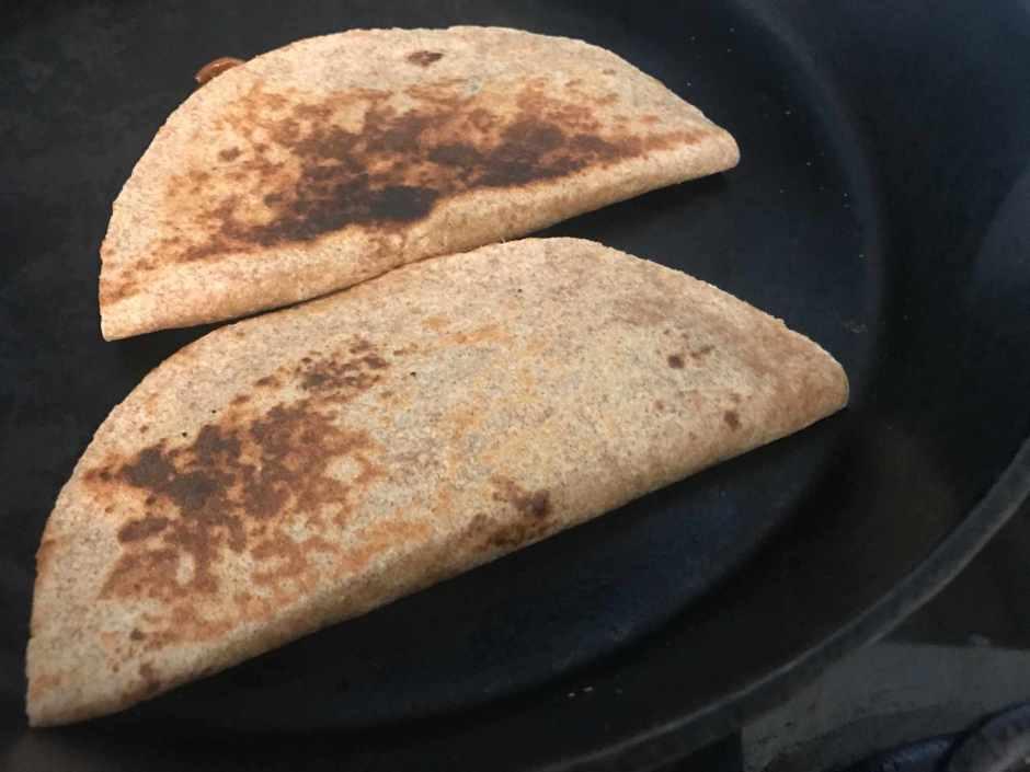 LBL Quesadilla in saute pan