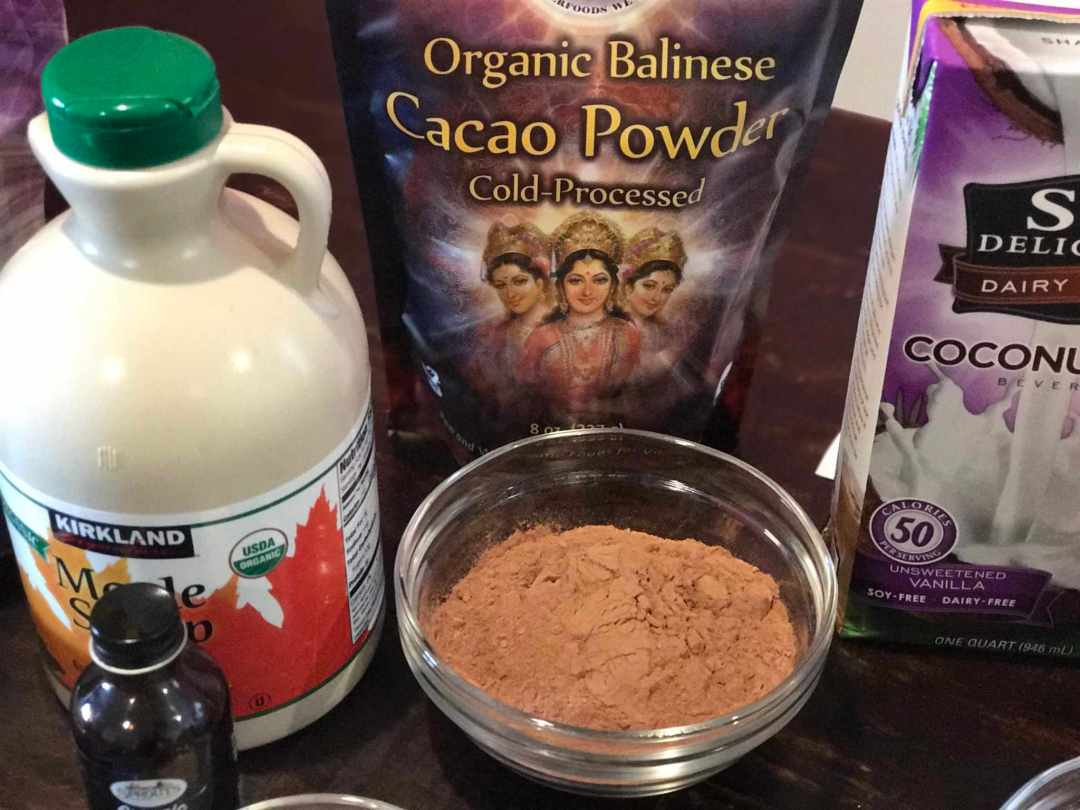 Ingredients - chocolate pudding