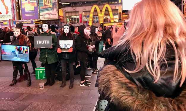 The Cube Of Truth Hits Times Square!