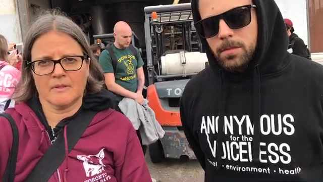 Animal Rights Heroes Join Together At Slaughterhouse To Say Stop The Madness!