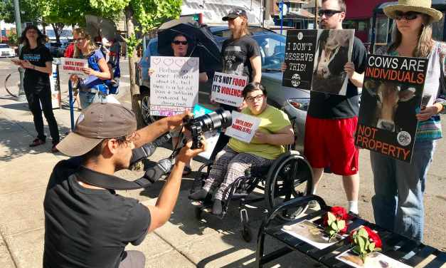 Mom Bursts Into Tears At 'Not Your Mom, Not Your Milk' Mother's Day Demo Outside Ice Cream Shop!