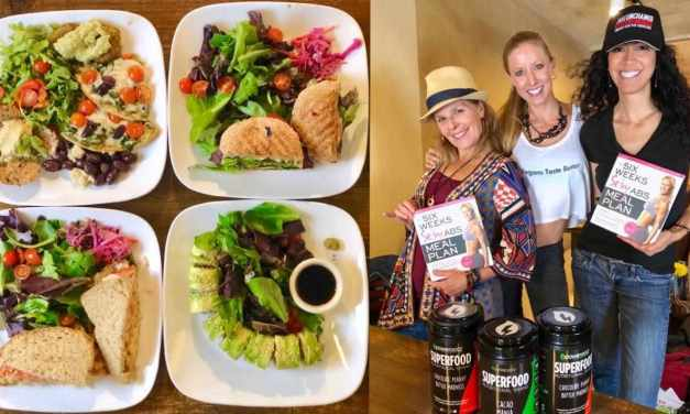 Sexy Fit Vegan Ella Magers Dines At Golden Mean Cafe! #LunchBreakLIVE