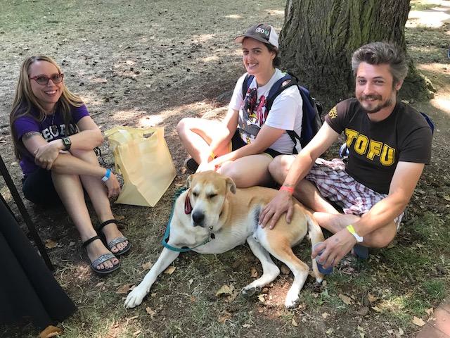 VegOut vegan fesitval Portland volunteers dog