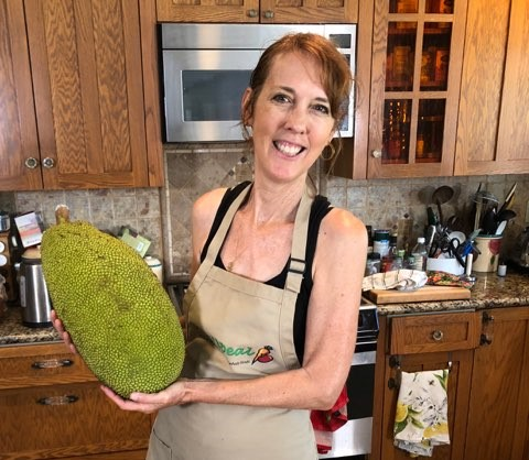 Attack of the Giant Jackfruit! Make this Vegan Chick'n Salad with Tracy Childs!