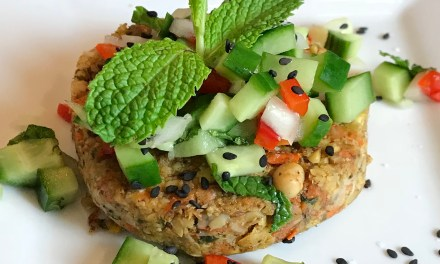 Antioxidant Burgers with Sweet Cucumber Relish