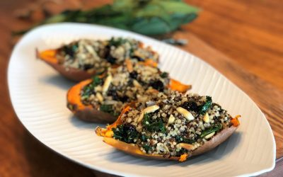 Stuffed Sweet Potatoes with Chef Leslie Durso!