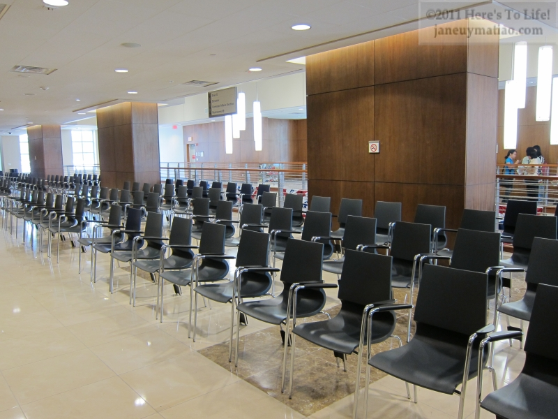 There Are Ample Chairs For Those Needing Consular Services Both Inside
