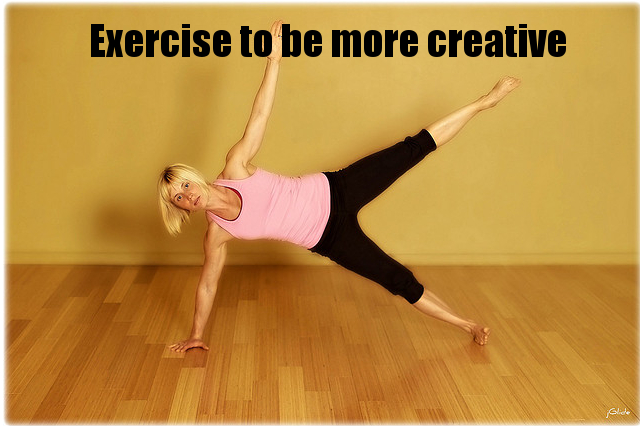 Exercise to be more creative. Photo by WolfmanBlacque