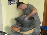 Giorgios demonstrates making a large pot 2