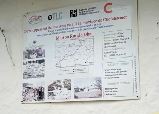 A map and information about the area.