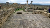 Volubilis, an old Roman city with many well-preserved mosaics.
