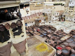 The dye works in Fes.