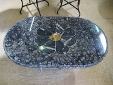 A stunning table made from fossils.