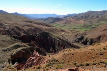 The scenery in Morocco was spectacular and varied. This was between Ouarzazate and Marrakech.